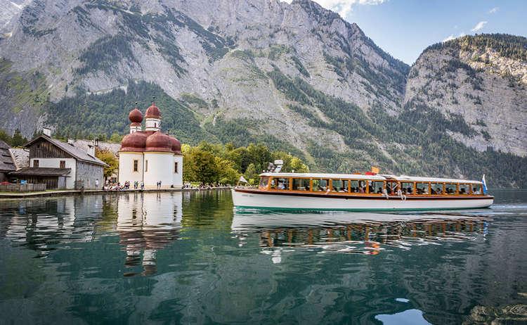 Ein Boot am Königssee