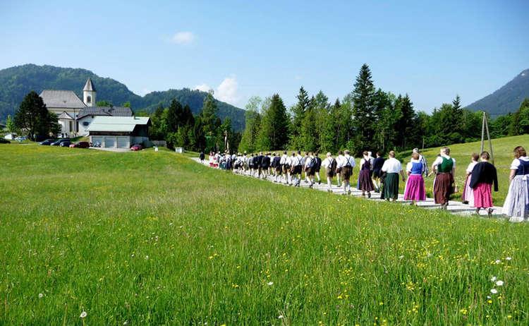 Prozession am Ettenberg zum Annafest