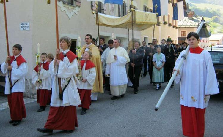 Fronleichnams-Prozession in Marktschellenberg