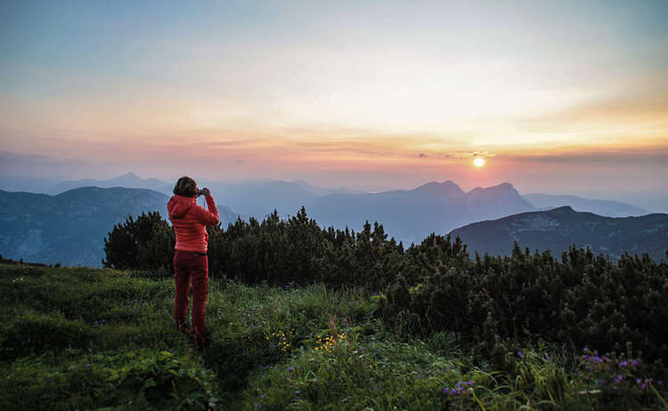 Sonnenuntergang am Untersberg